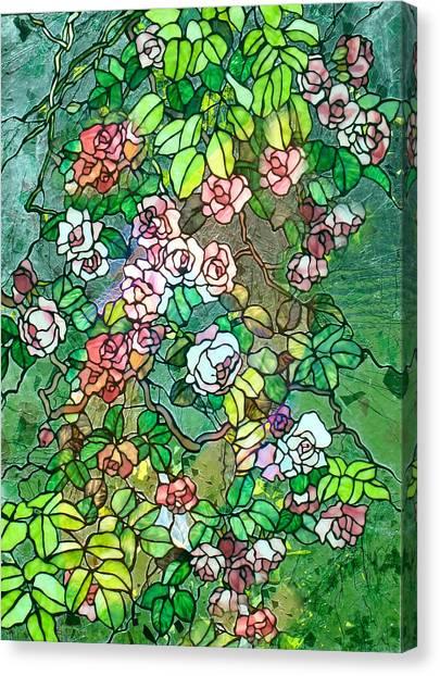 Colored Rose Garden Canvas Print