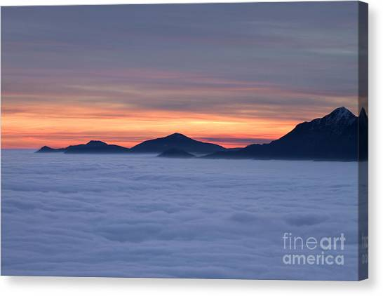 Colored Sunset Canvas Print