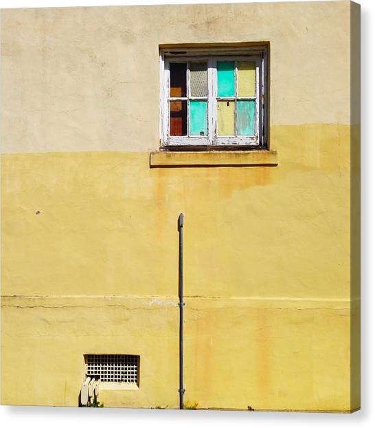 Yellow Canvas Print - Colored Window by Julie Gebhardt