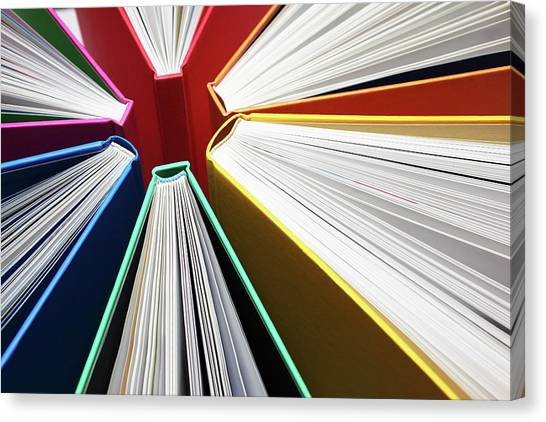 Colorful Books Abstract Canvas Print