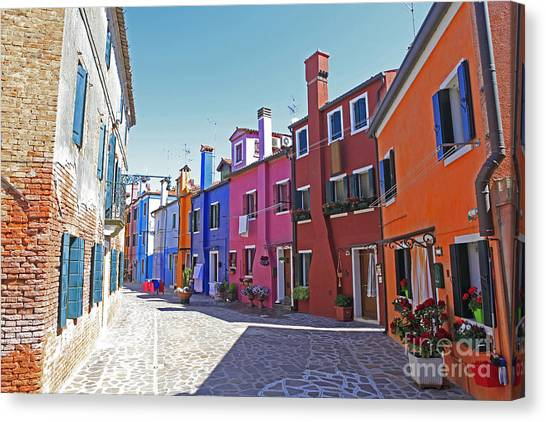 Colorful Burano Canvas Print by Ernst Cerjak