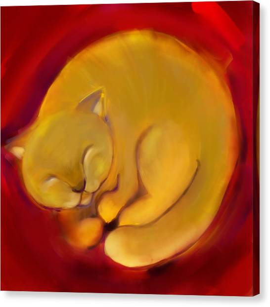 Colorful Cat 1 Canvas Print by Anna Gora
