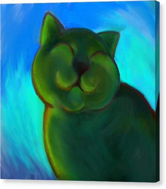Colorful Cat 4 Canvas Print by Anna Gora