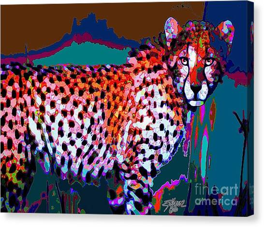 Colorful Cheetah Canvas Print
