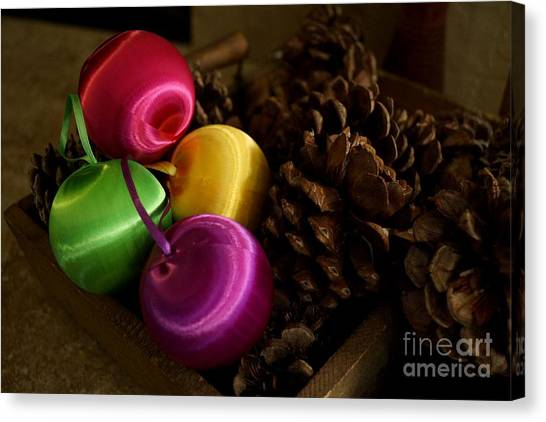 Colorful Christmas Balls Canvas Print