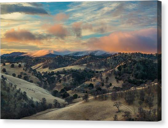Colorful Clouds At Sunrise Canvas Print