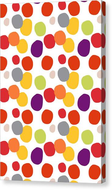 Circle Canvas Print - Colorful Confetti  by Linda Woods