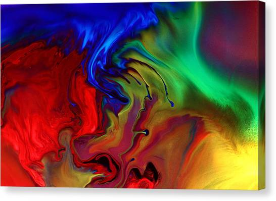 Colorful Contemporary Abstract Art Fusion  Canvas Print