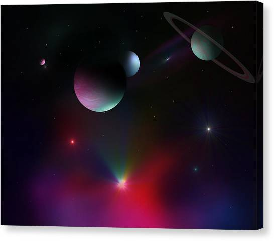 Colorful Cosmos Canvas Print by Ricky Haug