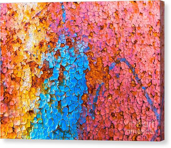 Colorful Cracks Canvas Print