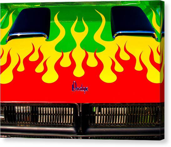 Colorful Dodge Hood Canvas Print