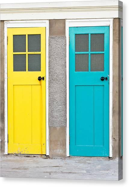 Door Canvas Print - Colorful Doors by Tom Gowanlock