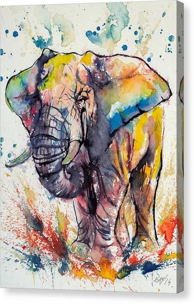 Colorful Elephant Canvas Print