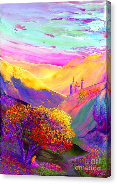 Paths Canvas Print - Colorful Enchantment by Jane Small