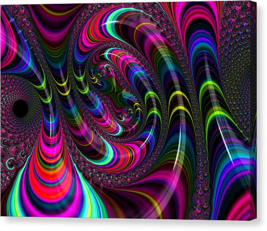 Colorful Fractal Art Canvas Print