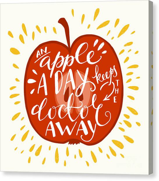 Colorful Hand Lettering Illustration Of Canvas Print by Tashanatasha