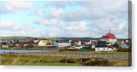 Newfoundland And Labrador Canvas Print - Colorful Homes In Bonavista by Panoramic Images