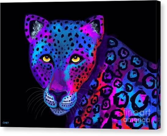 Colorful Jaguar Canvas Print