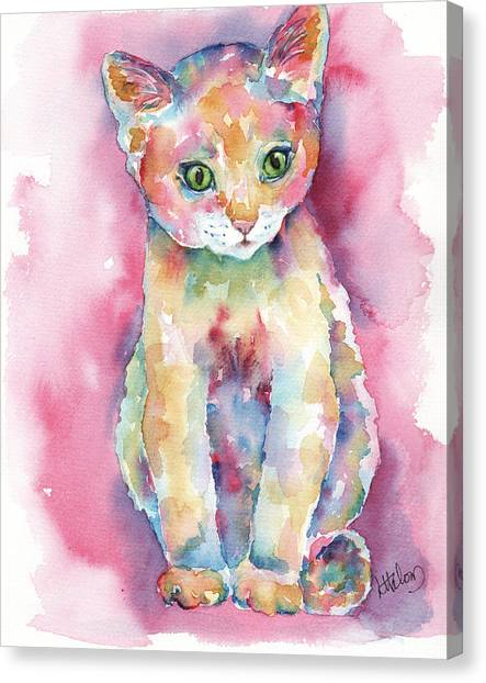 Colorful Kitten Canvas Print