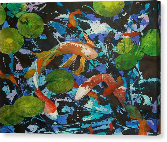 Colorful Koi Canvas Print
