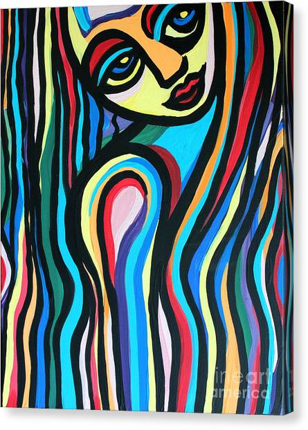 Colorful Lady  Canvas Print