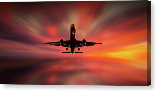 Colorful Landing. Canvas Print by Leif L?ndal