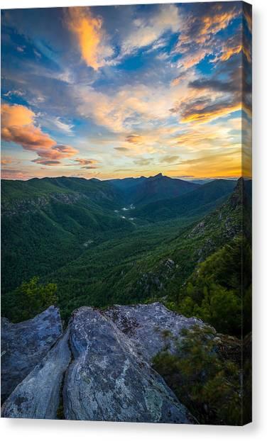Colorful Linville Sunrise Canvas Print