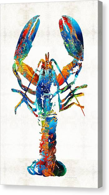 Florida House Canvas Print - Colorful Lobster Art By Sharon Cummings by Sharon Cummings