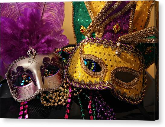 Colorful Mardi Gras Masks Canvas Print