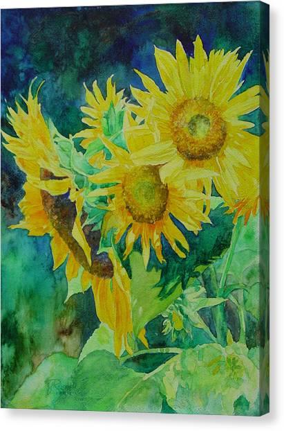Colorful Original Sunflowers Flower Garden Art Artist K. Joann Russell Canvas Print