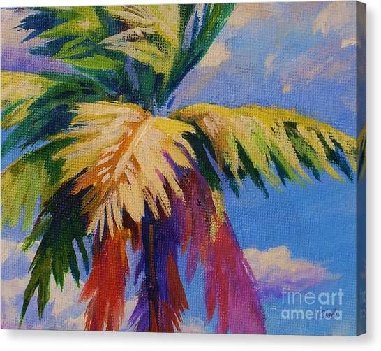 Fiji Canvas Print - Colorful Palm by John Clark