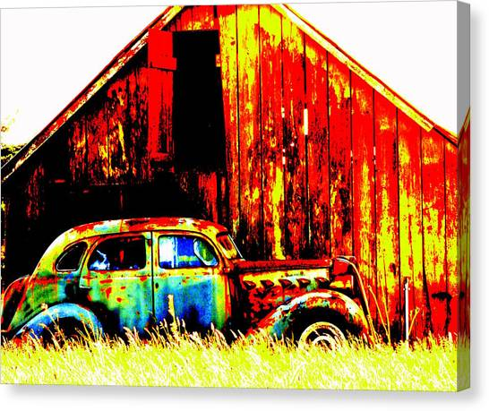 Colorful Past Canvas Print by Mamie Gunning