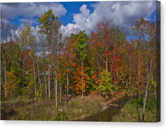 Colorful Ravine A Wider Angle Canvas Print