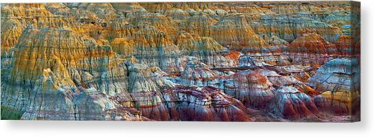 Colorful Rocks Canvas Print by Hua Zhu