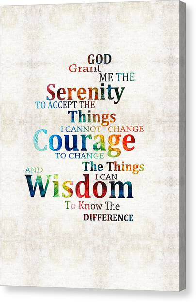 Serenity Prayer Canvas Print - Colorful Serenity Prayer By Sharon Cummings by Sharon Cummings