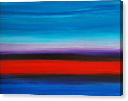 Contractors Canvas Print - Colorful Shore - Abstract Art By Sharon Cummings by Sharon Cummings