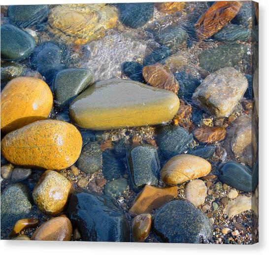 Colorful Shore Rocks Canvas Print