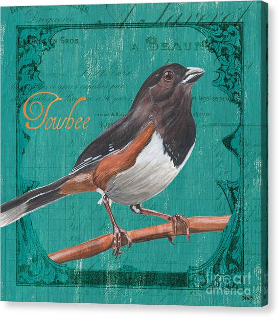 Songbirds Canvas Print - Colorful Songbirds 3 by Debbie DeWitt