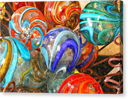 Colorful Spheres Canvas Print