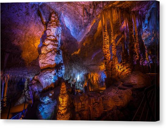 Colorful Stalactite Cave Canvas Print