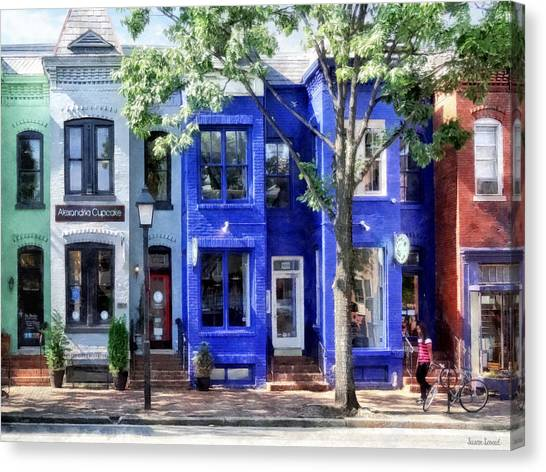 Alexandria Va - Colorful Street Canvas Print