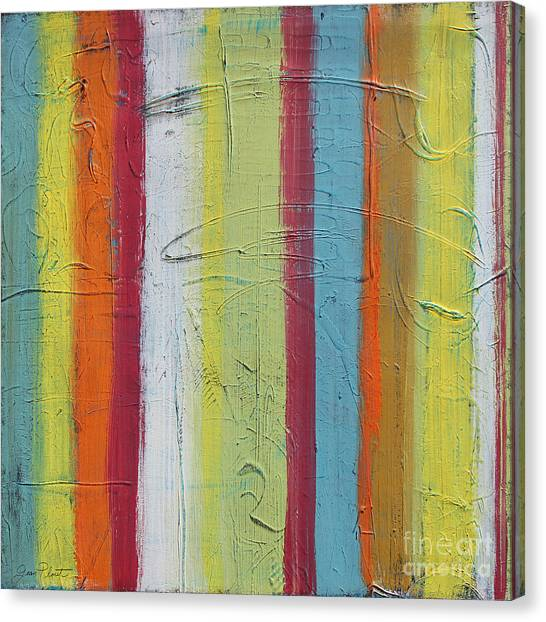 Acrylic On Canvas Print - Colorful Stripes-jp2504 by Jean Plout