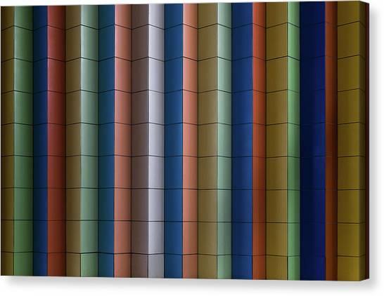 Colour Canvas Print - Colorful Stripes by Rolf Endermann