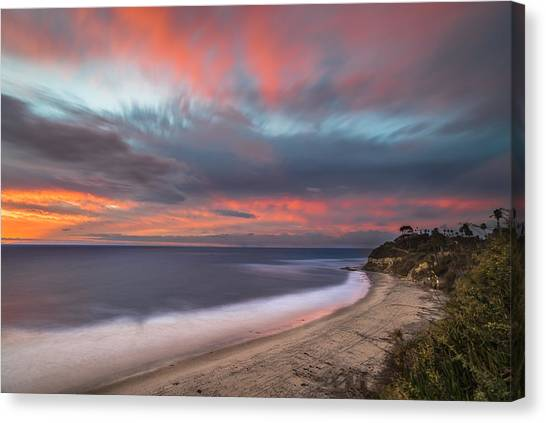 Colorful Swamis Sunset Canvas Print by Larry Marshall