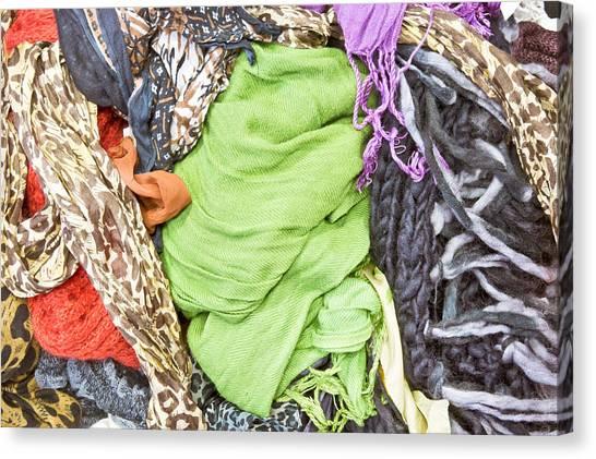 Fleas Canvas Print - Colorful Textiles by Tom Gowanlock