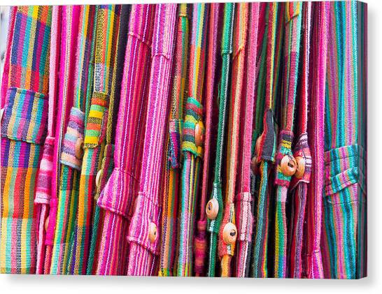 Selection Canvas Print - Colorful Trousers by Tom Gowanlock
