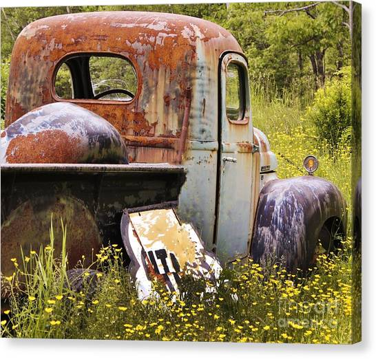 Colorful Truck Canvas Print