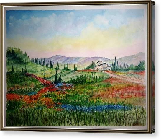 Colorful Tuscany Canvas Print