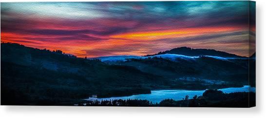 Colorful Twilight Panorama Canvas Print