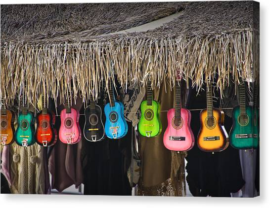Ukuleles Canvas Print - Colorful Ukulele Guitars For Sale In San Diego by Randall Nyhof